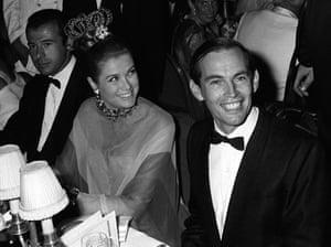 Christiaan Barnard having dinner in Monte Carlo with Princess Grace of Monaco.