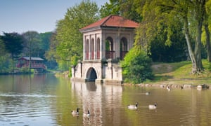 The boathouse in Birkenhead Park on the Wirral