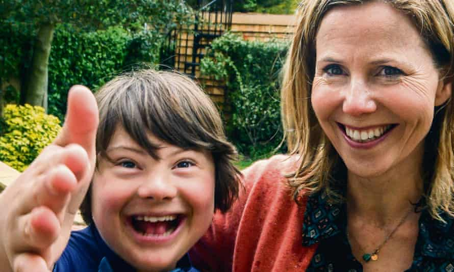 Sally Phillips, presenter of the BBC film, with her son, Olly.