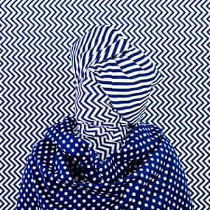 Alia Ali, Chevron, Indigo Series, 2019 Alia Ali's work reflects on the politics of contested notions of linguistics, identity, borders, universality, colonisation, and the inherent dualism that exists in each of them