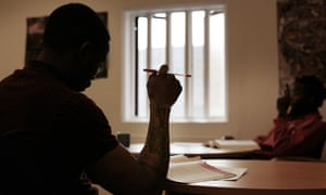 A prisoner studying at Swaleside jail on the Isle of Sheppey, Kent