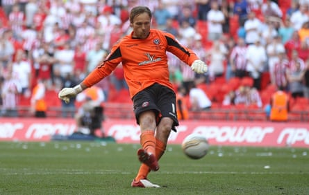 Steve Simonsen misses from the penalty spot in the League One play-off final in 2012.