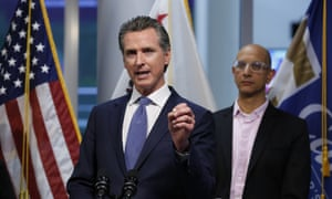 California's governor, Gavin Newsom, predicted more than half the state would get coronavirus.