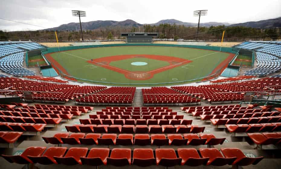 Fukushima's Azuma baseball stadium which will host the opening game in the softball between Australia and Japan on Wednesday.