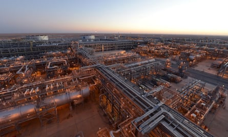 An oil facility in Saudi Arabi. Petrofac provides services to national oil companies in the Middle East and beyond.