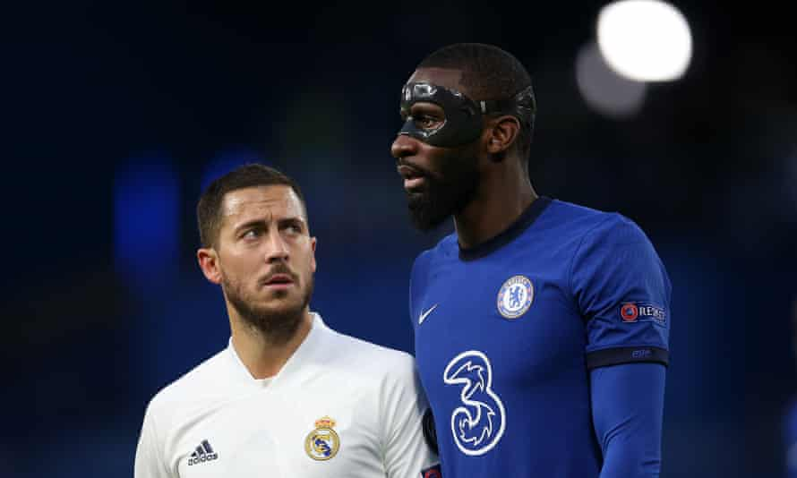 Eden Hazard was kept out of the game against his former club, with Antonio Rüdiger rock-solid in defence.
