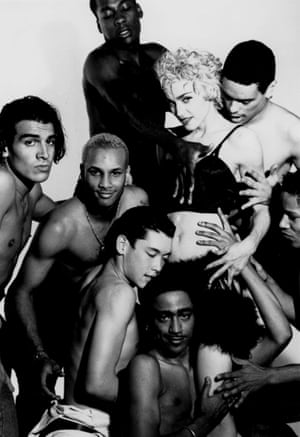 Express yourself: Madonna and her Blond Ambition dancers.