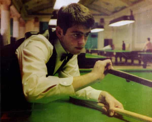 Ronnie O'Sullivan as a 16-year-old snooker player.