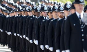 Police cadets at their 'passing out parade' in London.