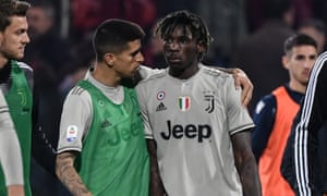 Moise Kean was subjected to monkey chants from Cagliari supporters during the 2-0 win ofr Juvengus.