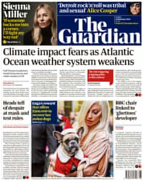 Guardian front page, Friday 26 February 2021