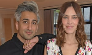 Tan France with his Next in Fashion co-host Alexa Chung.