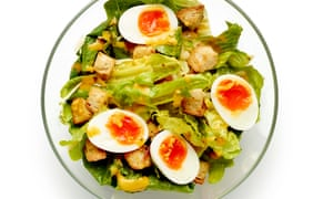 Rend unto caesar salad a proper, thick emulsion ... Felicity Cloake's definitive take on a classic.