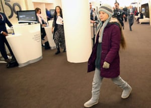 Climate change activist Greta Thunberg arriving at the 50th World Economic Forum (WEF) annual meeting in Davos, Switzerland, January 21, 2020. REUTERS/Denis Balibouse