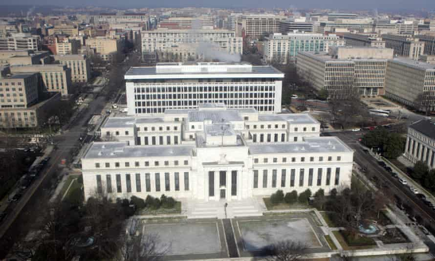 The US Federal Reserve building in the District of Columbia