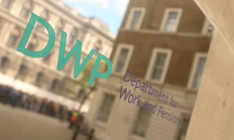 The Department for Work and Pensions in London.