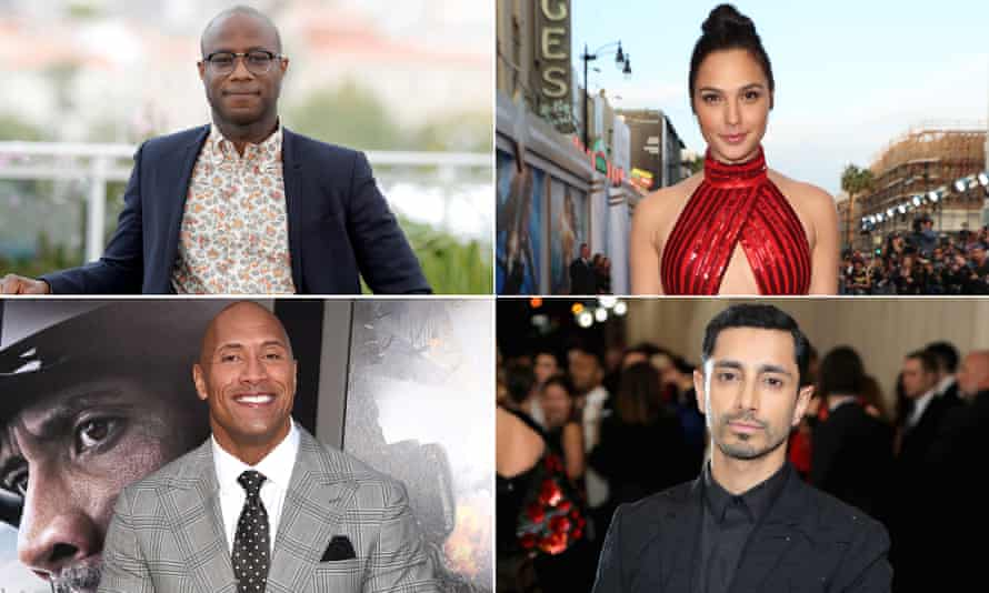 New Academy invitees: Barry Jenkins, Gal Gadot, Riz Ahmed and Dwayne Johnson.