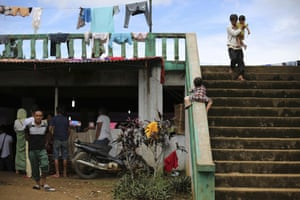 Marawi, PhilippinesA girl plays at an evacuation centre on the outskits of Marawi. Nearly every day for the past three weeks, the Philippine military has pounded the lakeside town with rockets and bombs as it tries to wipe out militants linked to the Islamic State group
