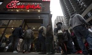Chick-fil-A restaurants, like this one in Manhattan, inspire a steadfast loyalty.