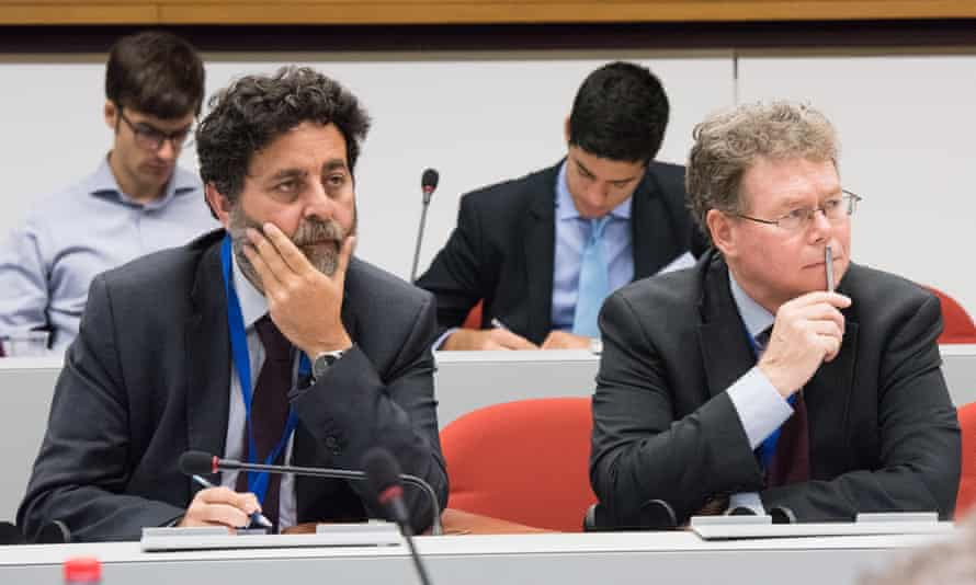 Dan Mullaney, chief US TTIP negotiator and Ignacio Garcia Bercero, his EU counterpart at the 14th round of the TTIP talks in Brussels, 11 to 15 July