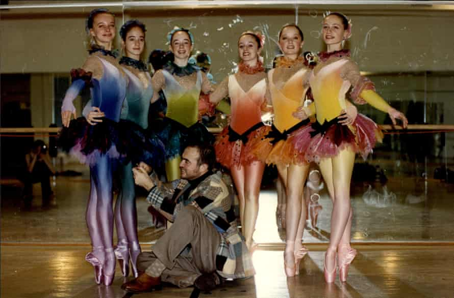 Christian Lacroix dressing English National Ballet School students.