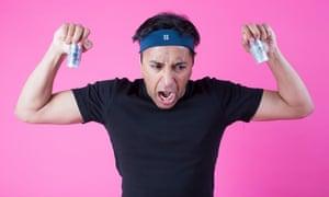 Rhik Samadder with two Face Gym Training Sticks
