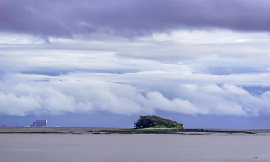 Isla de la capilla en la bahía de Morecambe.
