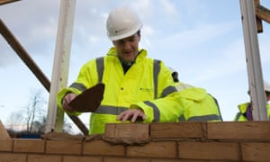 Britain's chancellor, George Osborne, on a visit to a housing development in South Ockendon in Essex on Thursday