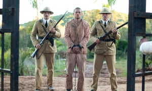 Charlie Hunnam (centre) as 'Papillon'.