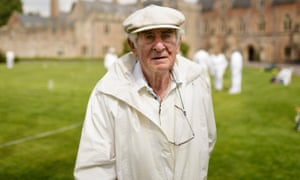 Guy Arnoux, chairman of the Palace croquet club, Wells.
