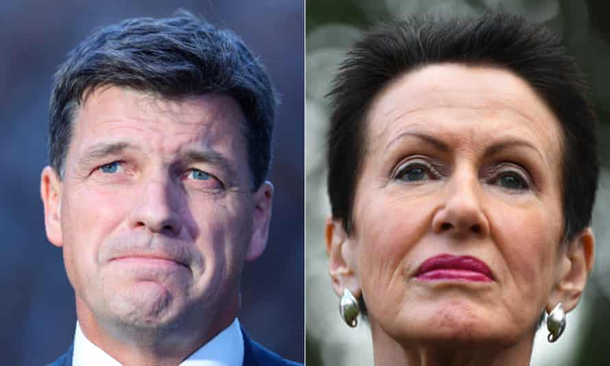 Clover Moore (right) says Angus Taylor 'used fraudulent documents in an attempt to tarnish my reputation'.