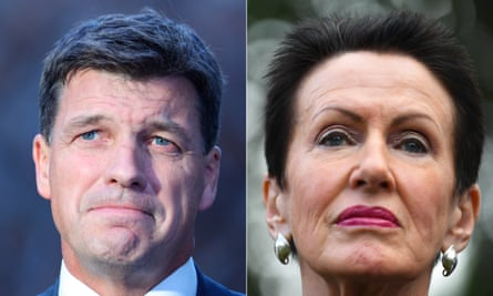 Sydney lord mayor Clover Moore (right) has called on minister Angus Taylor to follow her council's lead and publicly release evidence of his office's dealings with a doctored council document provided to the Daily Telegraph.