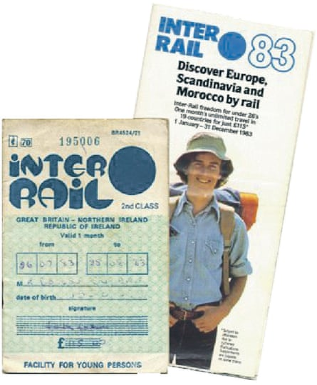 Old Interrail pass from 1983. Europe and Moor From 1974, Morocco was part of the Interrail family for a couple of decades