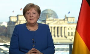angela merkel addresses the nation