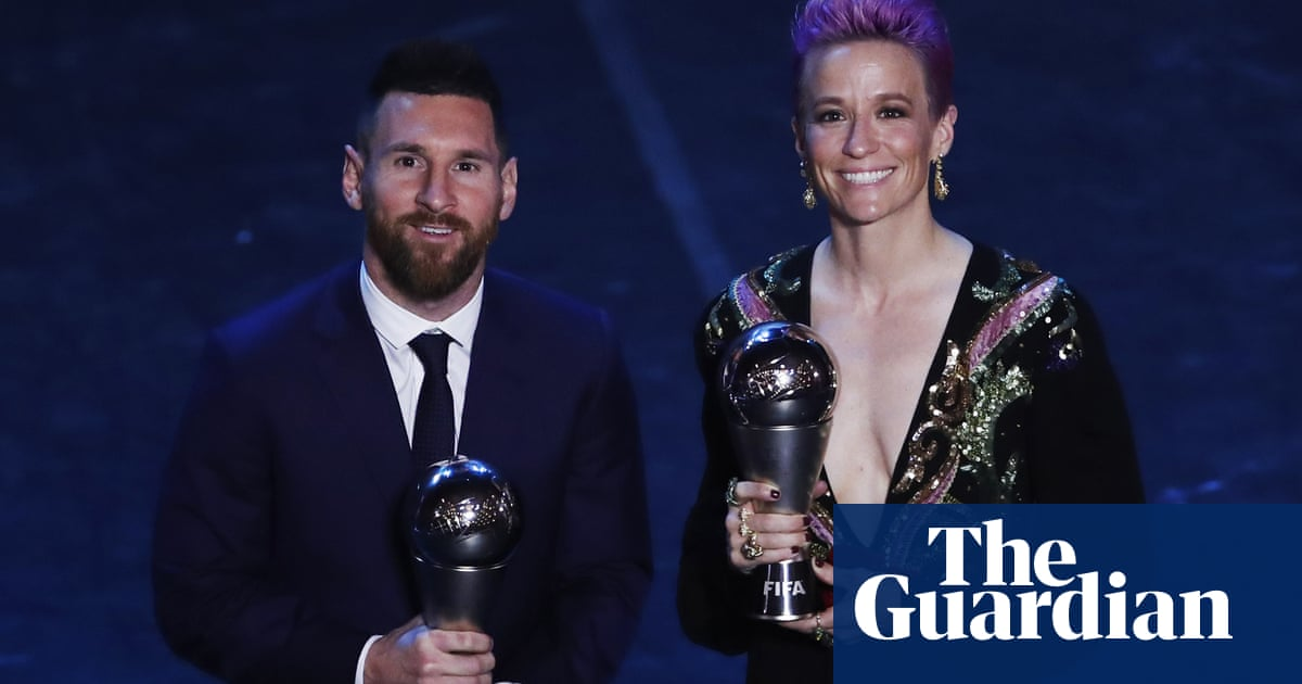 Lionel Messi and Megan Rapinoe named Fifa footballers of the year