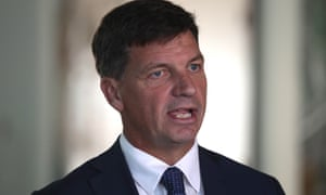 Australia's emissions reduction minister Angus Taylor
