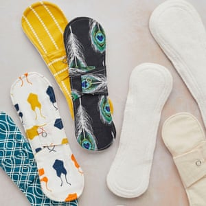Reusable cotton and bamboo sanitary pads. Plastic free, machine washable and biodegradable. Menstrual pad, £9.95, Tabitha Eve