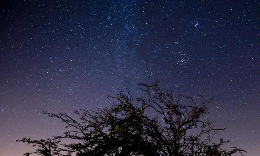 The night sky over Exmoor national park.