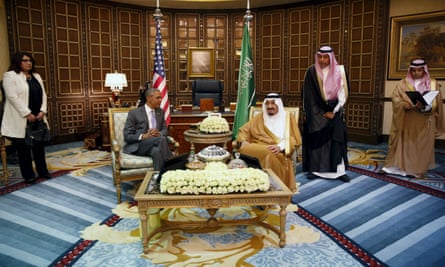 Barack Obama meets with Saudi King Salman. The US president has said he is nearing a decision on whether to declassify the 28 pages.