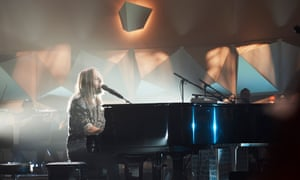 Tim Minchin performs at a livesteamed concert in Sydney on 19 November.