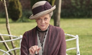 Disapproving … Maggie Smith in Downton Abbey.