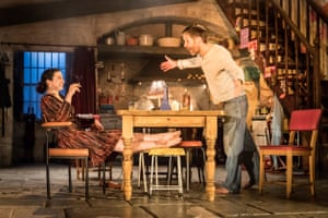 Laura Donnelly and Paddy Considine in The Ferryman at the Royal Court.