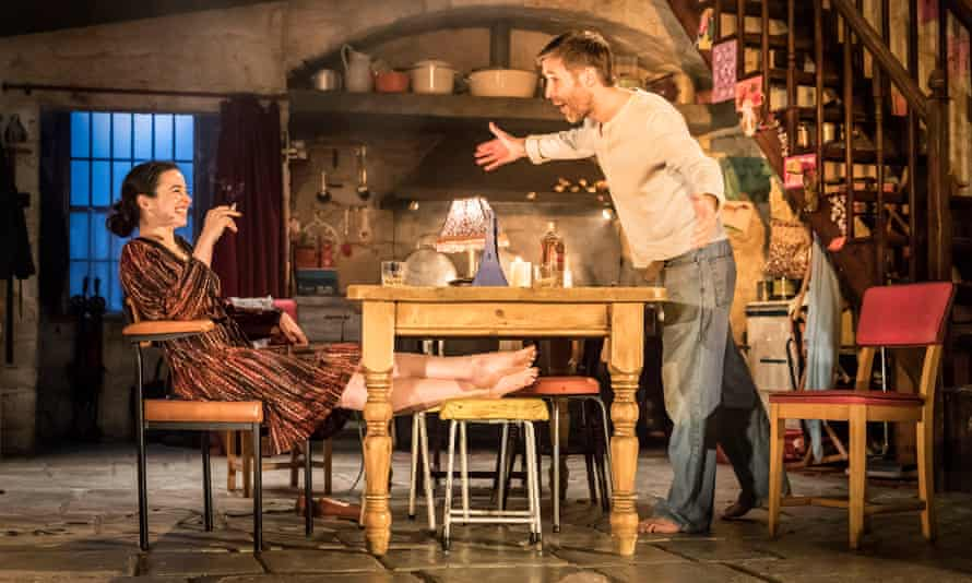'A fiery and desolate performance' … Donnelly with Paddy Considine in The Ferryman.