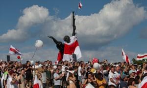 Jubilant protesters