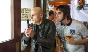 Mark Strong (left) and Sacha Baron Cohen in Grimsby