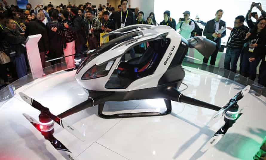 The Ehang 184 autonomous aerial vehicle.