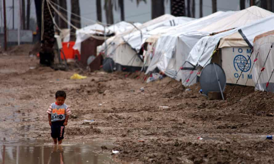 A refugee camp in southern Baghdad. Clean water, durable shelter and protection from disease are some of the challenges aid agencies face.