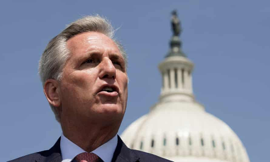 Kevin McCarthy on Capitol Hill on 20 May.