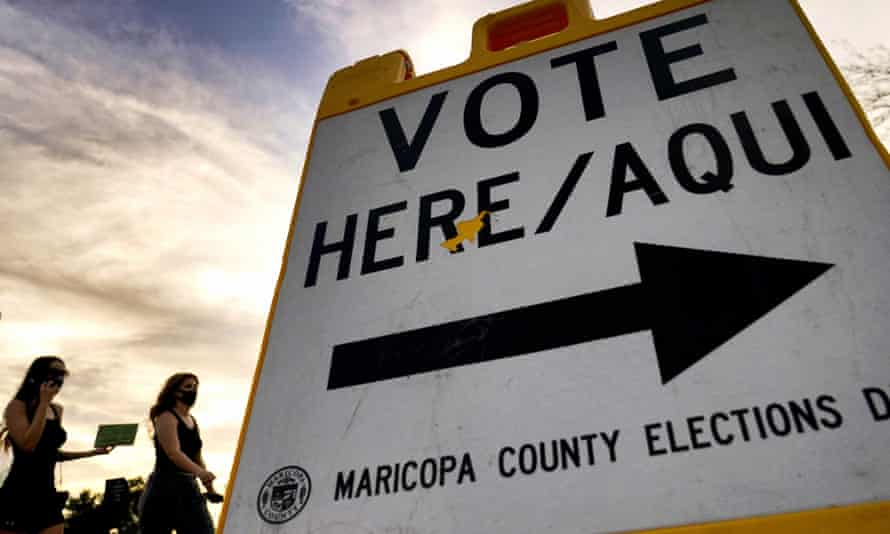 A polling station in Tempe, Arizona. 'The court decides this Voting Rights Act case at a perilous moment for the nation's commitment to equal citizenship,' Kagan writes.