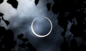 The near total 'ring of fire' solar eclipse as seen from the south Indian city of Dindigul in Tamil Nadu